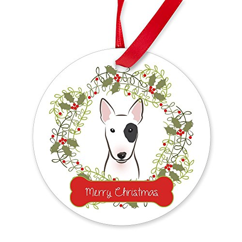 CafePress Bull Terrier Christmas Wreath Round Christmas