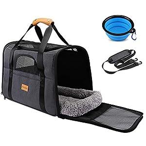 morpilot Pet Travel Carrier Bag, Portable Pet Bag – Folding Fabric Pet Carrier, Travel Carrier Bag for Dogs or Cats, Pet…