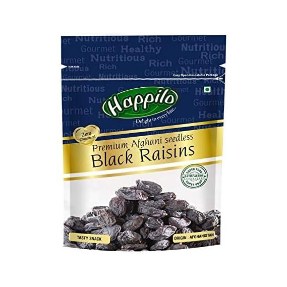 Happilo Premium Afghani Seedless Black Raisins, 250g