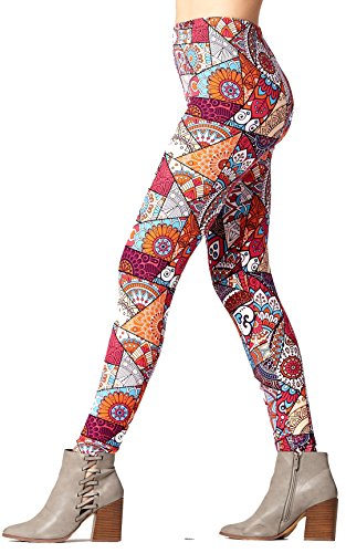 Super Soft High Waisted Printed Leggings for Women - Coloring Pages - Plus Size (12-24) -