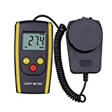 Amazingli Digital Luxmeter Handheld Photography Light Meter with LCD Display - Measures Lux and Lumens (200,000 LUX MAX Range)