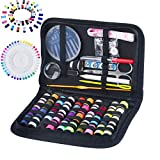 #1: 130 Mini Sewing Kit, Southsun DIY Premium Sewing Supplies for Kids, Beginner, Travel, Emergency with Scissors, Thimble, Thread, Needles, Tape Measure, Carrying Case and Accessories