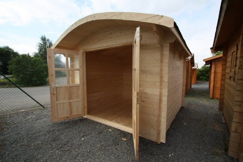 Gartenhaus Bispingen mit Tonnendach: Amazon.de: Garten