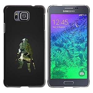 Caucho caso de Shell duro de la cubierta de accesorios de protección BY RAYDREAMMM - Samsung ALPHA G850 - Dracónido Guerrero Skyrm Gaming