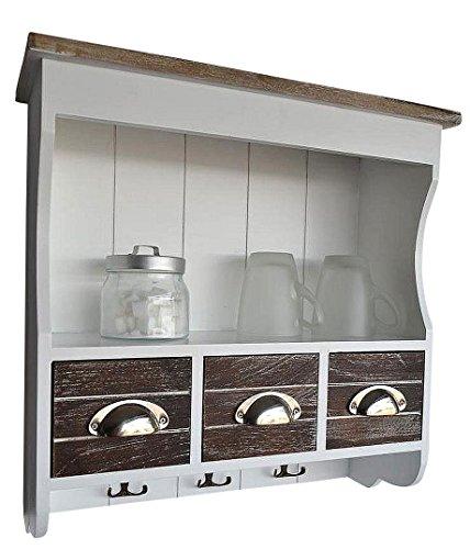 Livitat LV1050 Küchenregal, Holz, 18 x 50 x 50 cm, braun