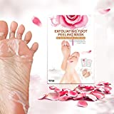 2 Pairs Rose Foot Mask, LuckyFine Exfoliating Feet Peeling Mask, Foot Peel Mask, Remove Calluses & Dead Skin Cells, Rebirth of Soft Foot, Peel second day, Completely within 4-7 days for Gift