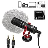 BOYA 3.5mm Cardiod Mini Shotgun Microphone for iPhone 8 8 plus 7 6 6s IOS Smartphone Mac Tablet Canon DSLR Camera Camcorder