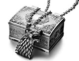 REINDEAR Official Game of Thrones House Stark Sigil Crest Metal Necklace w/ Jewelry Box US Seller