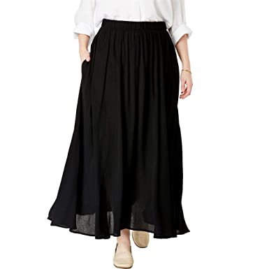 806d71aaba1 Woman Within Plus Size Maxi Crinkle Skirt at Amazon Women s Clothing store