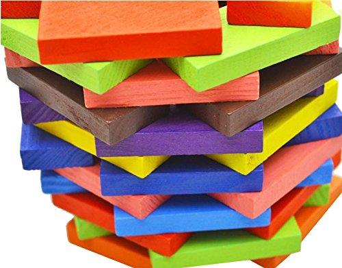 ドミノ 倒し 積み木 天然 木製 ブロック ピタゴラスイッチ 知育 玩具 おもちゃ カラフル 200個