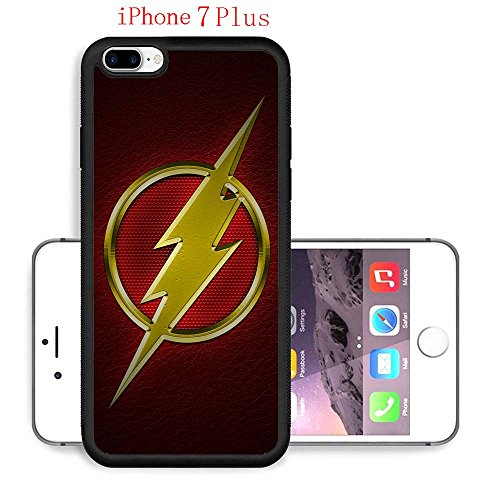 iPhone 7 Plus Case, The TV Series The Flash 61 Drop Protection Never Fade Anti Slip Scratchproof Black Soft Rubber (Female Cartoon Characters Names)