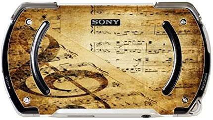 Vintage Musical Background Design Print Image PSP Go Vinyl Decal Sticker Skin by Trendy Accessories by Trendy Accessories