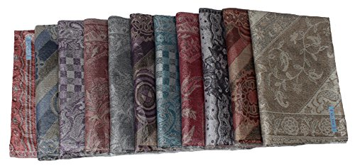 Kuldip Jamawar Pashmina Style Scarf Shawl Stole. Mixed designs. (Pack of 50). by Kuldip