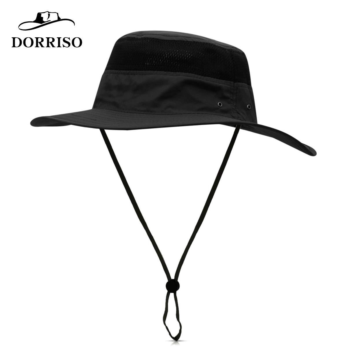 DORRISO Unisex Cappello da Pesca Antivento Protezione UV UPF 50+ attività  Escursionismo Vacanza Arrampicata Campeggio All aperto Safari Hat 9c4c817c298d
