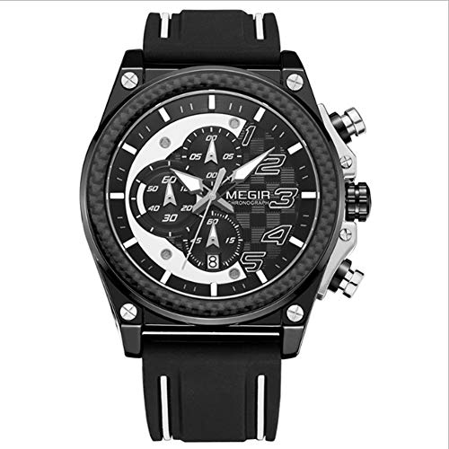 L.HPT Men's Sports Watch, Outdoor Multi-Purpose Military Student Waterproof Chronograph Calendar Stopwatch ()