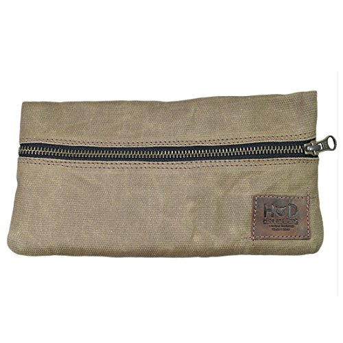 Waxed Canvas Vape Pen Accessories Kit Pouch Holder, Secure Fit, Cord Storage, G Pen Soft Travel Bag Handmade by Hide & Drink :: Fatigue