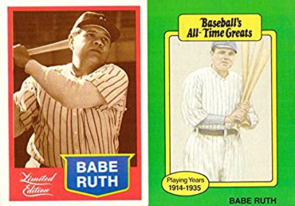 huge selection of a6935 b4a8a Amazon.com: Babe Ruth New York Yankees Lot of 2 Baseball ...