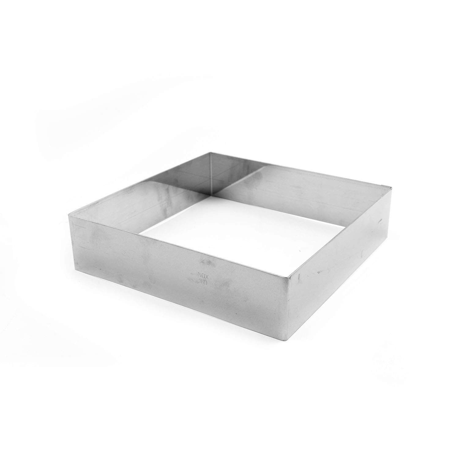 Gobel 863330 Stainless Steel Square Cake Ring 6-5/16 Inch x 6-5/16 Inch x 1-3/4 Inch High