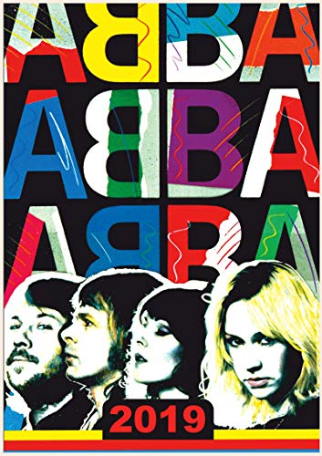 """2019 Wall Calendar [12 Pages 8""""x11""""] ABBA Vintage Pop for sale  Delivered anywhere in USA"""