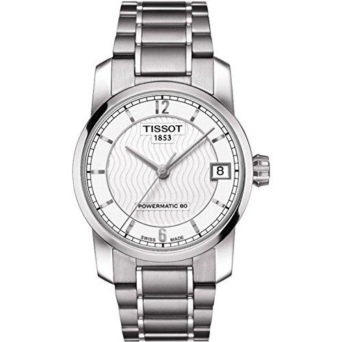 Tissot Reloj Analógico para Mujer de Cuarzo con Correa en Titanio T087.207.44.037.00