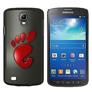 Stuss Case / Funda Carcasa protectora - Cute Funny Red Foot Print - Samsung Galaxy S4 Active i9295