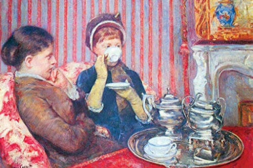 ArtParisienne The Tea, Detail Mary Cassatt 32x48-inch Wall Decal