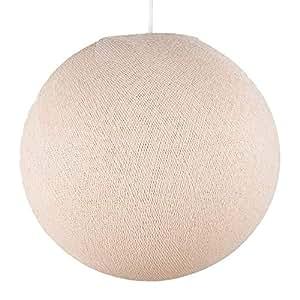 Amazon.com: Pantalla de lámpara de tela redonda de lino ...