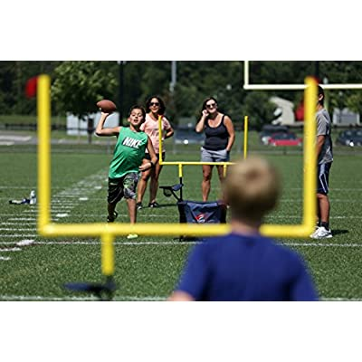 QB54 Outdoor Football Set - Football Toss and Kick Game Built into 2 Folding Chairs - Navy: Toys & Games