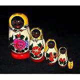 Russian Nesting Doll, Semenov 5pc,black
