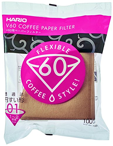 Hario V60 Misarashi Coffee Paper Filter (Size 01, 100 Count, Natural)