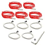 CHPOWER 12V 40W 620 Ceramic Cartridge Heater and NTC Thermistor 100K 3950 for 3D Printer Creality CR-10 CR-10S S4 S5 Makerbot RepRap Prusa i3 (Pack of 10)