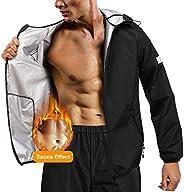 Gotoly Sauna Suit for Men Hot Sweat Waist Trainer Jacket Fitness Sauna Pants Gym Workout Muscle Training Sweat