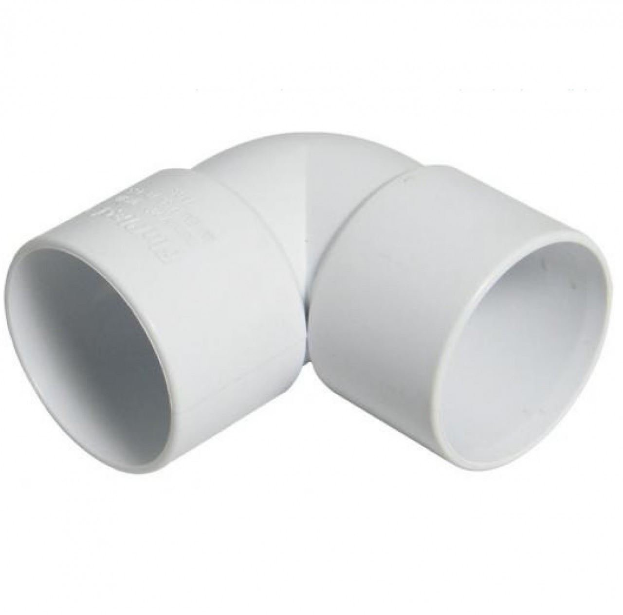 10 x Waste Pipe Fittings Elbows for 32mm 36mm for Solvent Weld Waste Pipe White