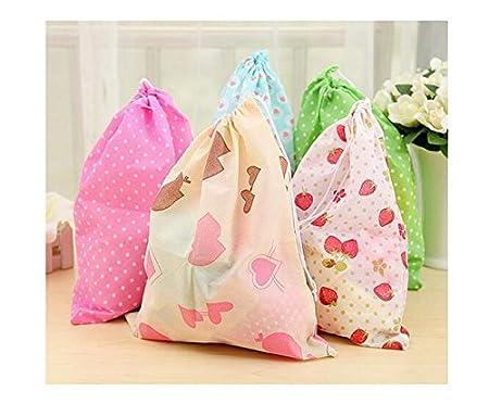 Set de 10 bolsas de tela reutilizables, de tela no tejida, antipolvo y transpirable.: Amazon.es: Hogar