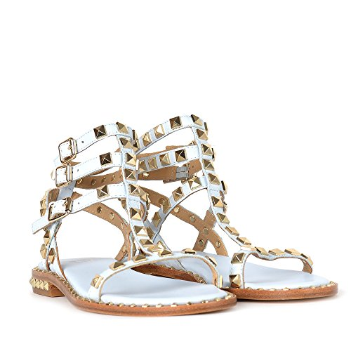 Blue Blue Sandals Ice Gold Poison Ash Ice Leather Studs 58Sqtnw