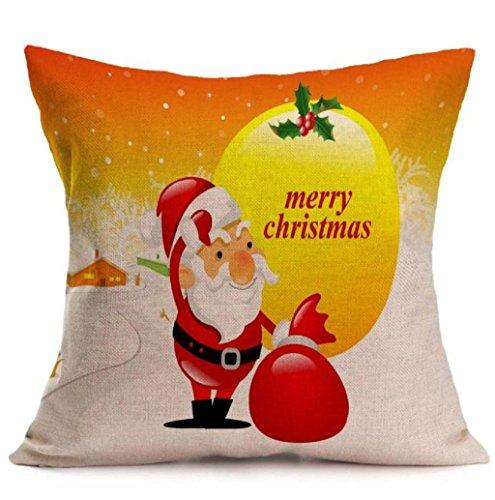 Mallcat Vintage Christmas Smowman Penguin Pillow Case (A)