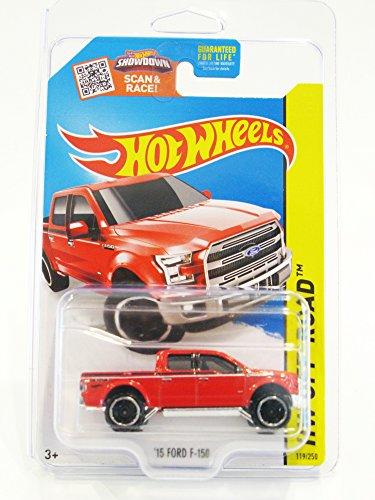 Hot Wheels 2015 HW Off-Road '15 Ford F-150 F150 Pickup Truck Red