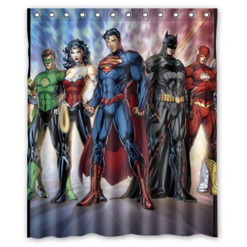 Bestselling Fashionable Bathroom Collection Custom Dc Comics Justice League Superheroes Shower Curtain Bath Decor 60 Amazonca Clothing