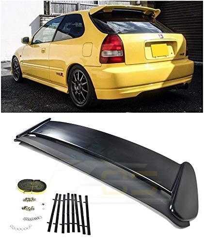 Extreme Online Store for 1996-2000 Honda Civic EJ6 3Dr Hatchback   EOS JDM Type-R Style ABS Plastic Primer Black Rear Roof Top Wing Spoiler CTR EK9 Si Type-R