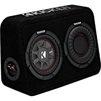 Kicker TCWRT672 CompRT 6.75 Subwoofer in Thin Profile Enclosure 2ohm 150W