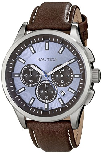 Nautica N16694G Stainless Steel Faux Leather product image