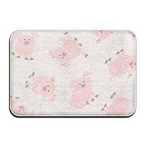 Pig Animal caliente rectangular Felpudo asiento puerta alfombrillas Super absorbente para baño