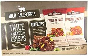 Wild California Twice Baked Crisps, Variety, 1.5 oz, 18 ct