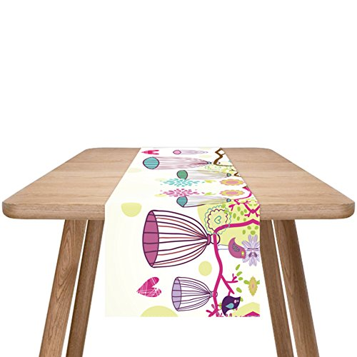 ZQ STORE Modern minimalist linen table flag,European-style coffee table runner,American pastoral japanese table table flag-F 33x180cm(13x71inch) ()