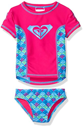Roxy Baby Girls' Tiles Rashguard Set, Camellia Rose, 6-12 Months (Roxy Spot)