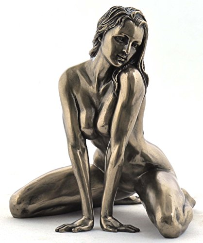 - 5 Inch Figure Female Nude on Floor Straddling Arm Display Decor