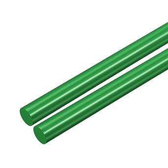 Polyoxymethylene Rods Engineering Plastic Round Bars uxcell 2pcs Plastic Round Rod 3//4 inch Dia 20 inch Length Green POM
