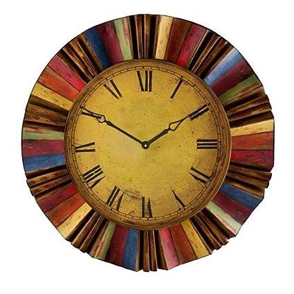 Amazon.com: Southern Enterprises Multicolor Wall Clock: Home & Kitchen