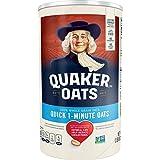 Quaker Quick 1 Minute Oats, 100% Whole Grain, 42 oz