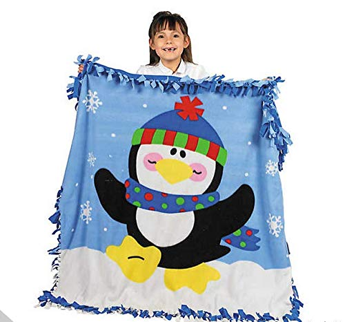 FLEECE PENGUIN TIED PILLOW ARTS AND CRAFTS FOR KIDS ()